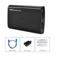 Game HD 1080p 60fps HDMI to Record Video For PS3 USB3.0 Xbox Switch Nintendo, the contraction For FaceBook Youtube Live Streamin