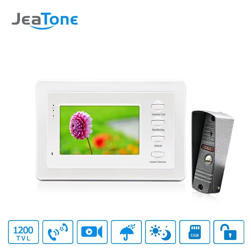 4 Inch 1200TVL Home Video Doorbell Monitor Door Phone Video Intercom Door Intercom Night Vision Camera Security System Kit