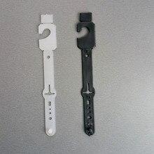 HK14 พลาสติก PP เข็มขัดหนังผลิตภัณฑ์แพคเกจแขวนคลิป Buckle Clasps สำหรับเสื้อผ้าอุปกรณ์เสริมหมุด 200 pcs