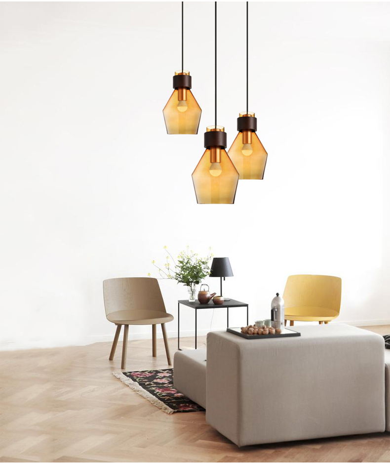 Contemporary contracted Nordic pastoral creative Restaurant bar sitting room coffee shop Lighting Glass chandelier ledream contracted and creative personality sitting room dining room art glass chandelier american cherry branches pendent lamp