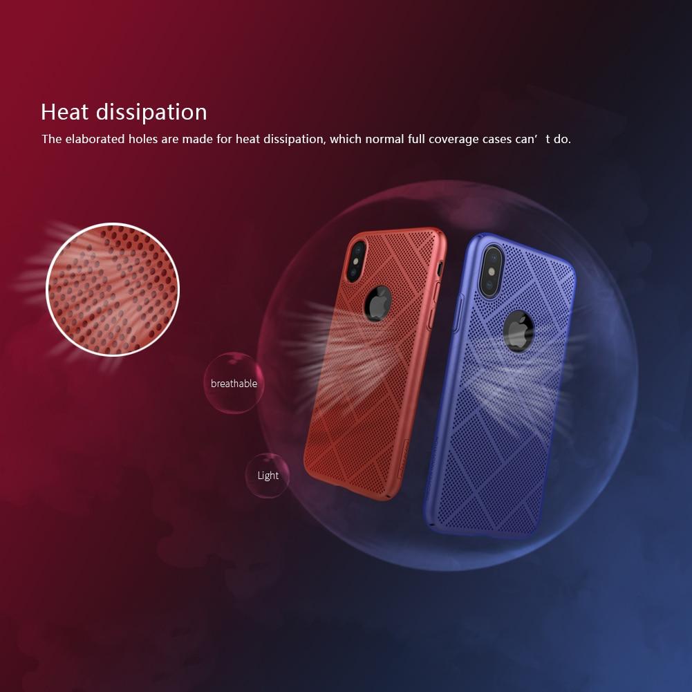 Для IPhone X чехол Nillkin довольно мягкий ультра тонкие дышащие охлаждения сетки телефона чехол для iPhone х 5.8 дюйма