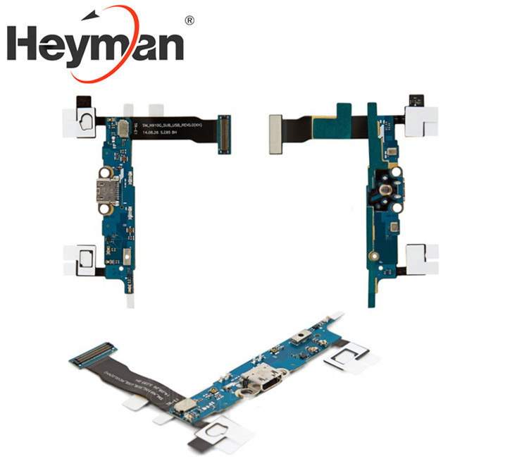 Heyman Flex Cable For Samsung N910H Galaxy Note 4 Replacement Parts Flat Cable (microphone, Charge Connector,components)