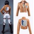 Костюм для косплея «атака на Титанов» 3 шт., кожаные шорты, пиджак, шаль, пояс, костюм для косплея, Микаса Акермана