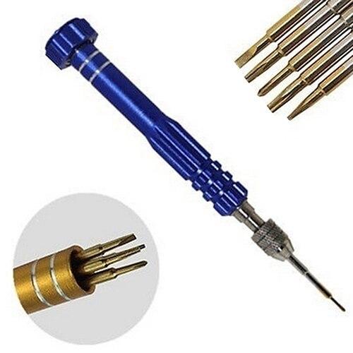 5 in 1 Precision Torx Screwdriver Magnet Set Cellphone Watch Repair Tool Kit