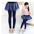 Free shipping new children's clothing Girls spring bottoming Culottes Large Tong  models children culottes leave two long pants