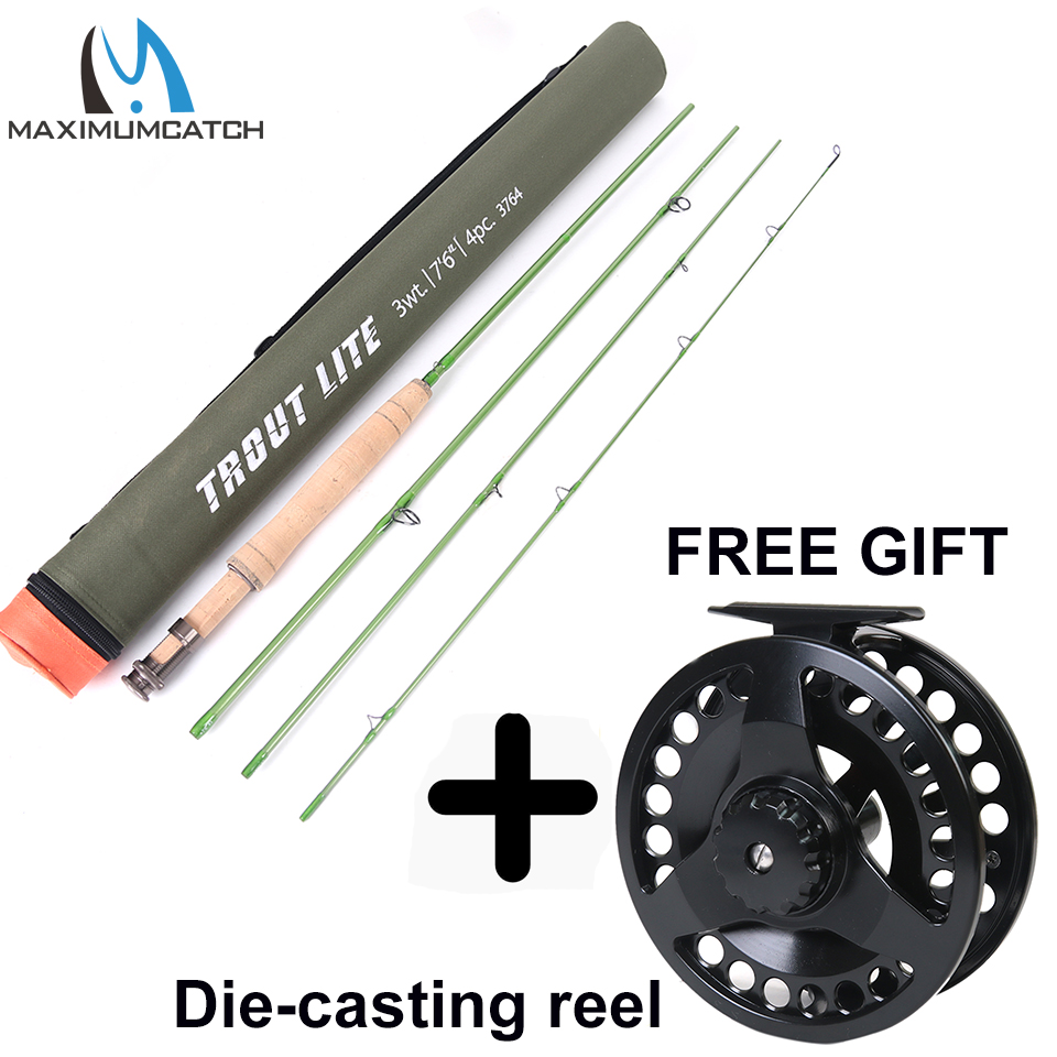 Maximumcatch Trout Fly Fishing Rod IM12 Graphite Moderate Action Light Presentation With Cordura Rod Tube For