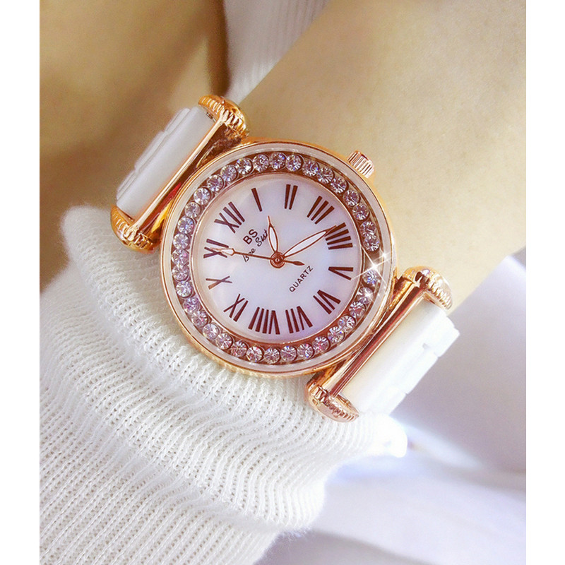2019 top brand luxury wrist watch women white ceramic ladies quartz fashion watches for