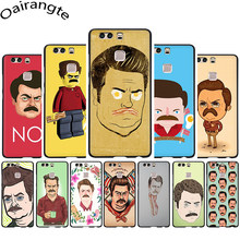 Ron Swanson Soft Phone Cover Case for Huawei P8 9 P 10 Lite P20 30 Lite Pro P Smart(China)