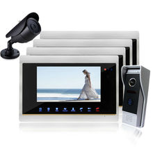 Homefong 7 Inch TFT Touch Screen Color Video Door Phone Night Version Intercom System IR sensor Color Screen with seurity camera