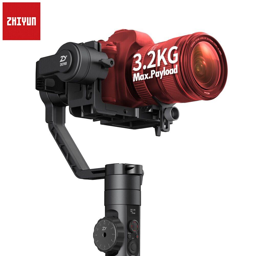 Date Zhiyun Grue 2 Axes De Poche Cardan Caméra Vidéo Gyro Stabilisateur pour DSLR avec Follow Focus 3.2Kg Charge Utile OLED affichage