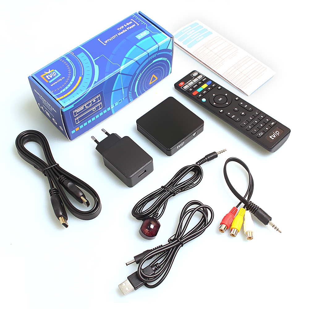 5Pcs Anewkodi Mini TVIP 410 412 S Box Amlogic Quad Core 4GB Linux Android 4.4 Dual OS Smart TV Box H.265 Airplay DLNA 5pcs android tv box tvip 410 412 box amlogic quad core 4gb android linux dual os smart tv box support h 265 airplay dlna 250 254