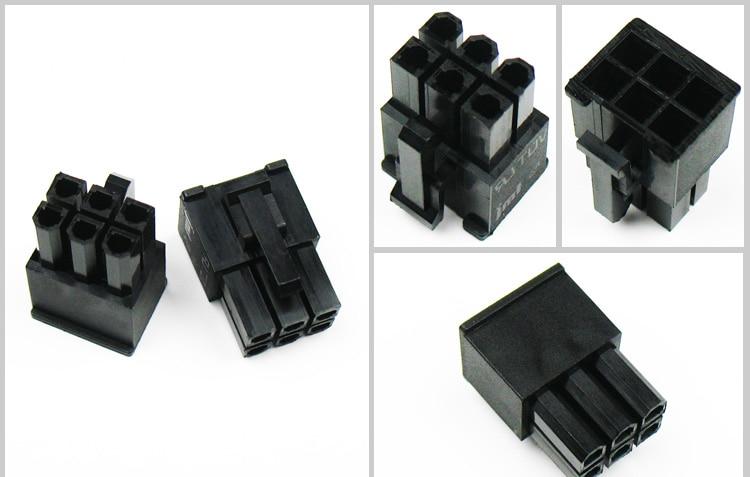 PC Modular Power Supply 6Pin Male Connector For Corsair AX1200 ----- Black(1pcs)