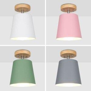 Image 2 - LED תקרת אור ברזל עץ תקרת מנורות נורדי מודרני תקרת סלון חדר שינה קישוט קבועה מסדרון מטבח