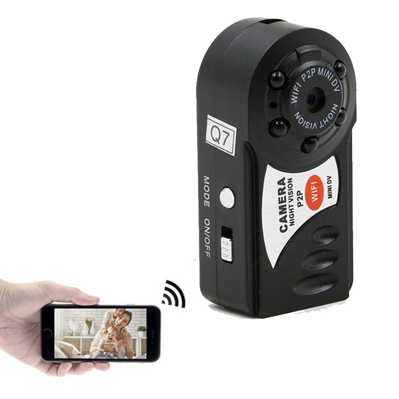 Q7 Mini Wifi DVR Wireless IP Camcorder Video Recorder Camera Infrared Night Vision Camera Motion Detection Built-in Microphone portable q7 camera 480p wifi dv dvr wireless ip cam brand new video camcorder recorder infrared night vision