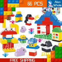 66pcs My First Polar Baby animals Zoo Park Penguin Creative Figure Building Blocks Toys Compatible With LegoING Duplo