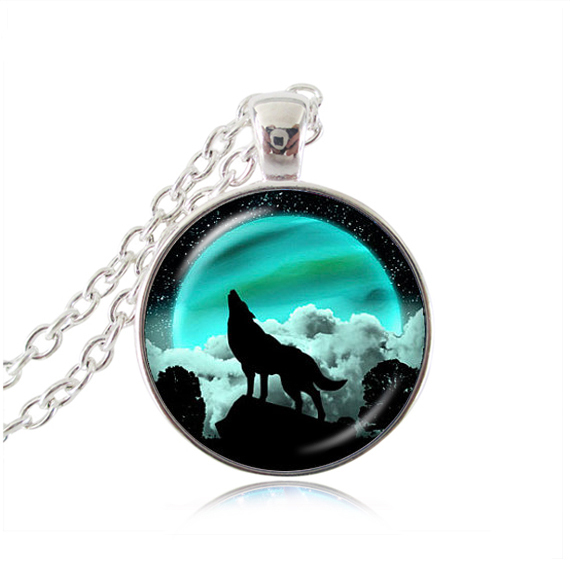 Black wolf pendant necklace green moon jewelry howling wolf black wolf pendant necklace green moon jewelry howling wolf necklaces pendants necklaces animal jewellery wolf pendant mozeypictures Choice Image