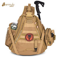 Military Tactical Chest Sling Pack Outdoor Sport One Single Shoulder Man Big Large Travel Camouflage Backpack