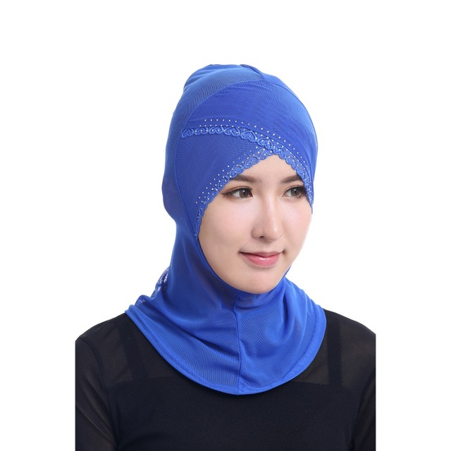 High Quality Chic Muslim Women Under Scarf Hat Cap Bonnet Ninja Hijab Islamic Neck Cover
