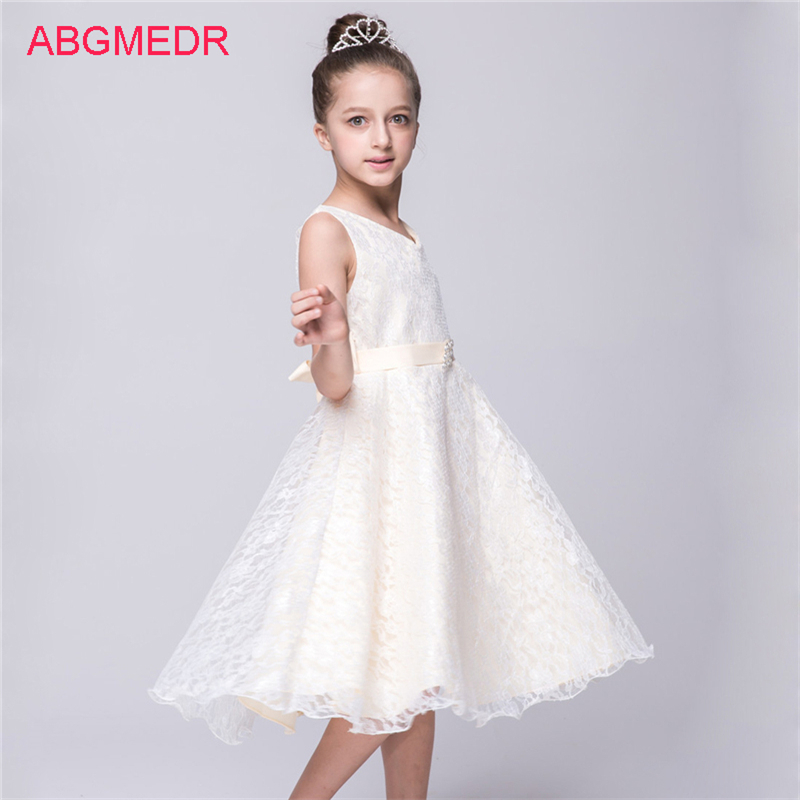 2017 Summer Kids Lace Dresses Teens Girls Prom Dress Children Casual Clothing Baby Girl Birthday Party Wear Clothes for 3-12 Yrs children dresses for girls summer casual stripe baby girl dress 2017 fashion kids clothes 4 6 8 10 12 years girls clothing