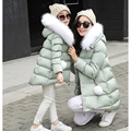 Christmas Kids Down Coat Matching Mother Daughter Clothes Family Clothing Baby Girl Clothes Winter Down Jacket Snow-covered Pack