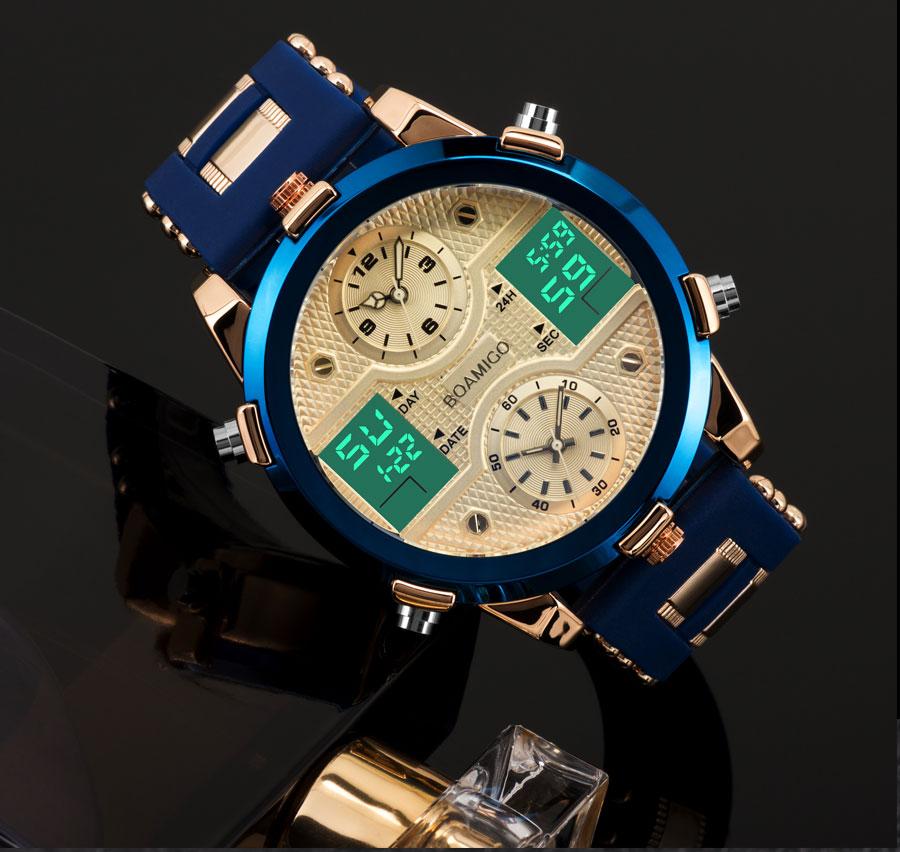 HTB1t9DFXMFY.1VjSZFqq6ydbXXaE BOAMIGO Mens Watches Top Luxury Brand Men Sports Watches Men's Quartz LED Digital 3 Clock man Male Wrist Watch relogio masculino