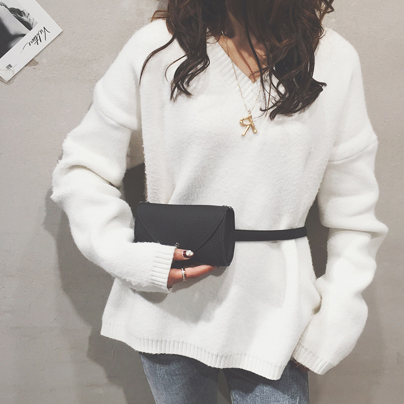 CCRXRQ Women Waist Bags Fashion Ladies Crossbody  Shoulder Bag Black Handy Belt Bag Phone Coin Purse Female Leather Fanny Pack