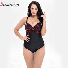 Women Retro Vintage Swimsuit New Plus Size One Piece Swimwear Shiny Push Up Bathing Suit Floral Monokini Swimming Beachwear