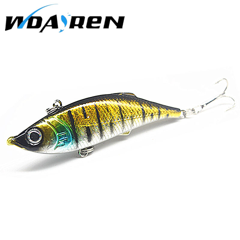 1Pcs Metal VIB Fishing Wobblers 3D Eyes Bait Fishing Hard Treble Hooks Fishing Lures 8cm 11.8g Crank bait FA-316 1pcs 3 5g 3cm gold metal vib hard lure sea carp fly fishing spinner bait accessories jig hooks tool wobblers fish sport lures