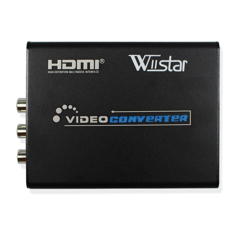 Wiistar 1pcs Latest 1080p HDMI To AV/S Video Adapter S-Video, CVBS Video Converter Free Shipping  hdmi to av&svido rca  latest 1080p hdmi to av s video adapter s video cvbs video converter hdmi to av