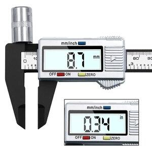 Image 3 - Pied à coulisse électronique numérique en Fiber de carbone, calibre micrométrique, règle numérique, outil de mesure, 100mm 150mm, 6 pouces