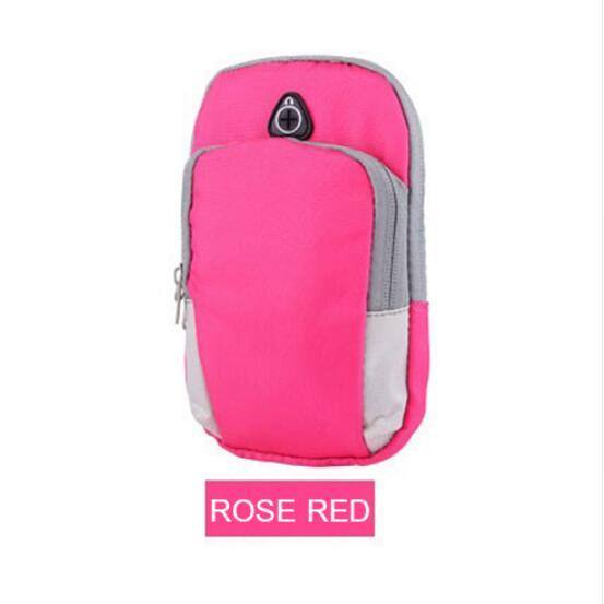 Чехол для телефона на руку для LG G7 ThinQ G4 G5 G6 G8 Stylo 4 сумка на молнии многофункциональный чехол для занятий спортом для LG V50 V30 V40 K5 K7 K8 K10 - Цвет: Розовый