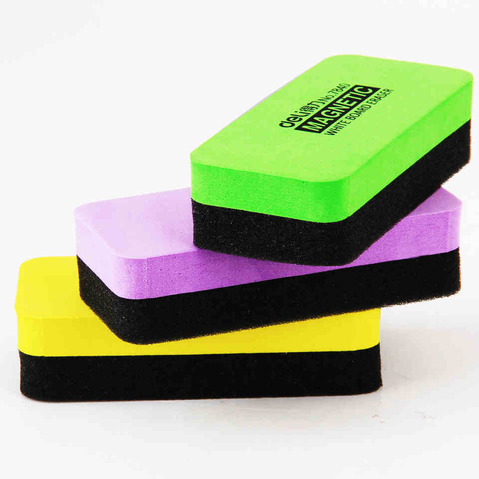 10 pieceslot magnetic whiteboard eraser colored mix light 110x50x22mm office school supplier cheap office lighting