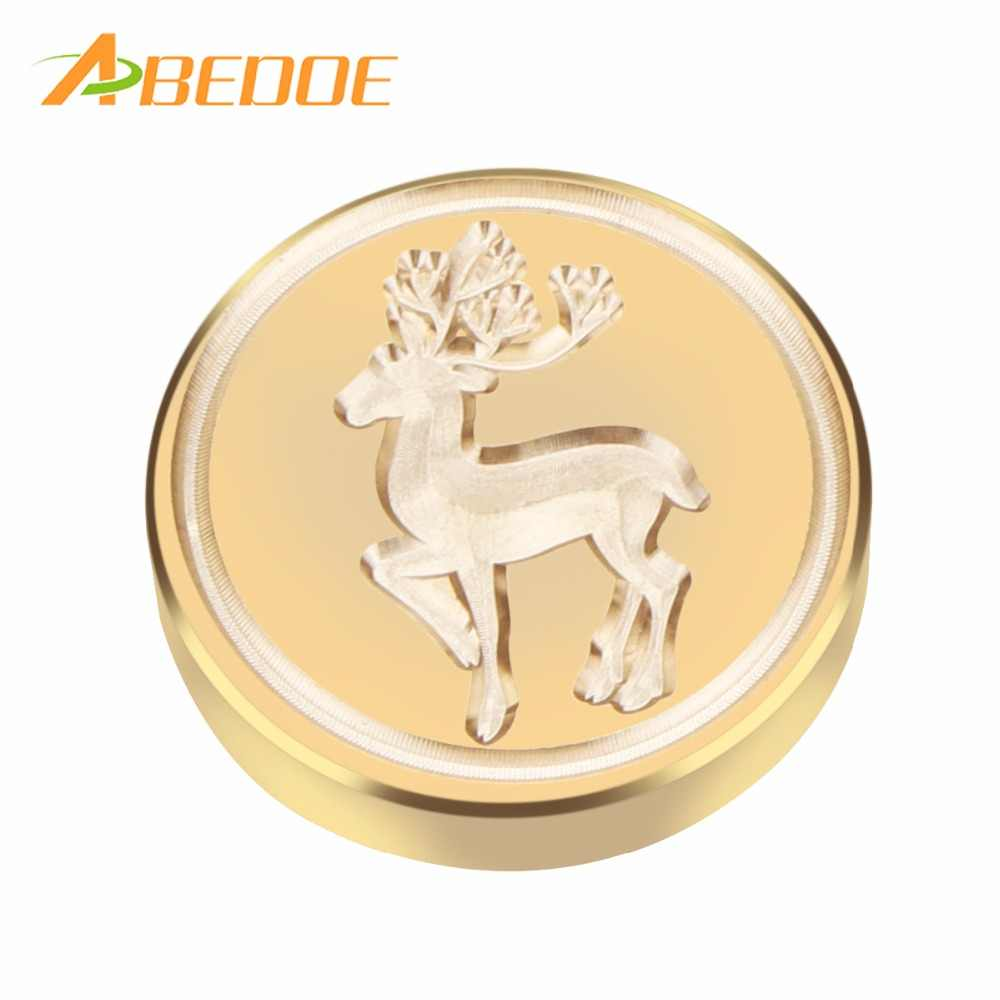 ABEDOE Retro Brass Head Sealing Wax Stamp Heart Wedding Invitation Merry Christmas Card Rose Snow Wax Seal Stamp for Christmas