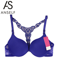 ANSELF Sexy Women Bra Front Closure Lace Bralette Racerback Paddad Push Up Bra Seamless Underwear Ultra Boost Sutian Sujetador
