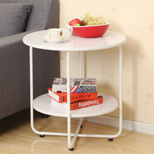 Fashion small apartment living room sofa side table round beside the bed a few coffee minimalist movement teasideend