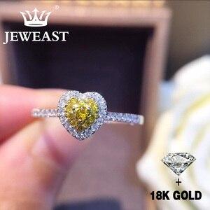 Image 1 - Naturale Diamante 18K Oro Anello di Oro Puro Bella Pietra Preziosa Anello di Buona di Lusso Alla Moda Del Partito Classico Gioielleria Raffinata Vendita Calda Nuovo 2020