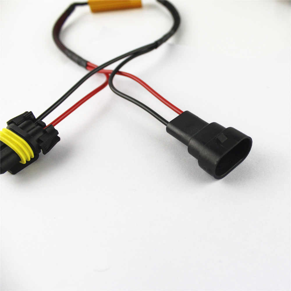 2PCS 9006/HB4 LED Light Fog  HID DRL lamp No Error Load Resistor Wiring Harness WARNING CANCELERS DECODERS NO FLICKERS