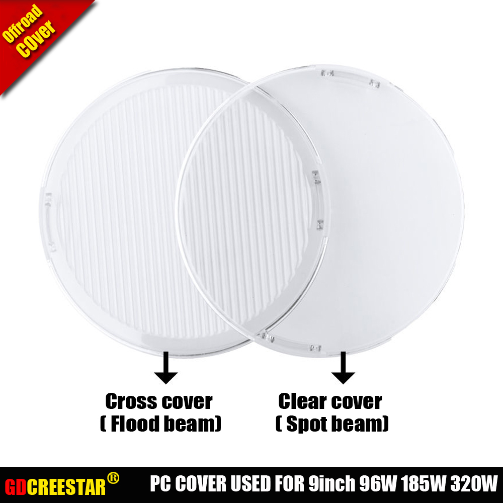 PC Lens Cover Spot Cover Flood Cover used for 9 round 96W 111W 185W 320W Led driving lights cover (dont include offroad lights)