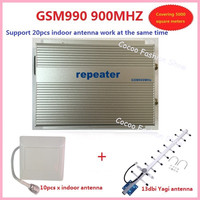 wholesale sunhans 3w(40dBm) GSM990 GSM 900Mhz cell phone signal booster repeater coverage 2000square +10pc antenna free shipping