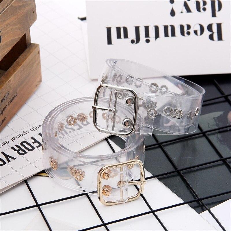 Women Waist   Belt   Resin Transparent Long   Belt   Dress Band   Belt   Heart Pin Buckle Cinturon Mujer Cinturones Para Hombr Leather Strap