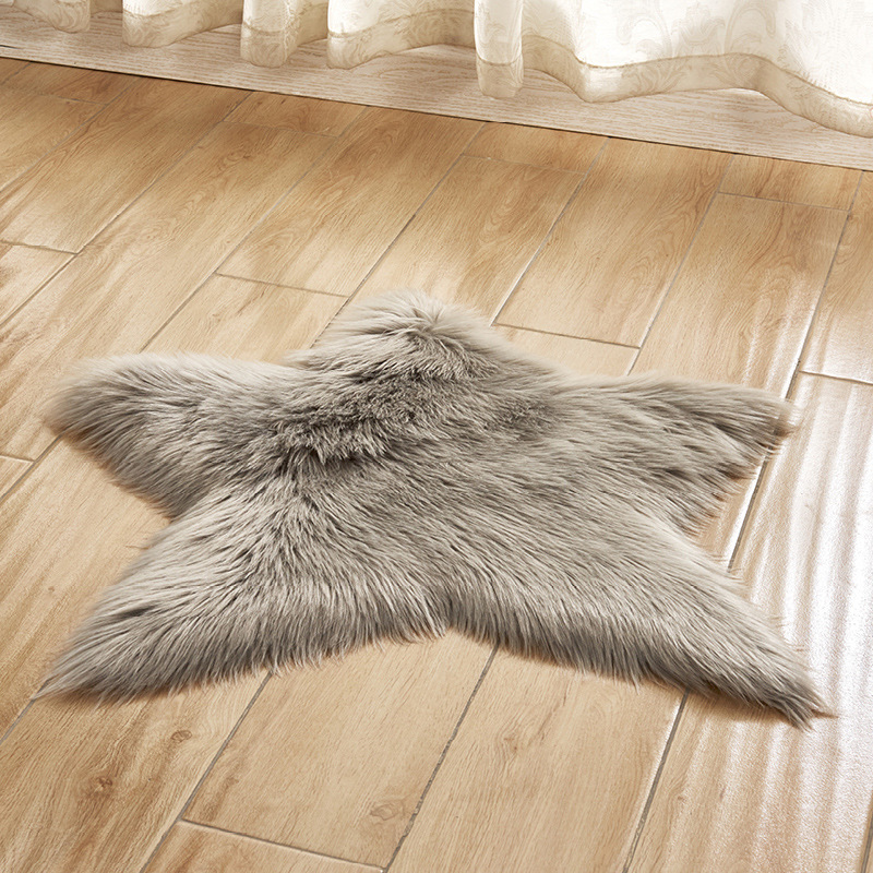 Plush Floor Mats Stars Shape Doormats Living Room Tatami Hallway Kitchen Carpets Bedside Feet Rugs Photo Props tapis de cuisine