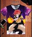 2016 Moda Japão anime T Shirt Homens Camisa De Fadas Cauda Redonda Fairy Tail pescoço Casuais T-Shirt Plus Size Tops tees Frete grátis