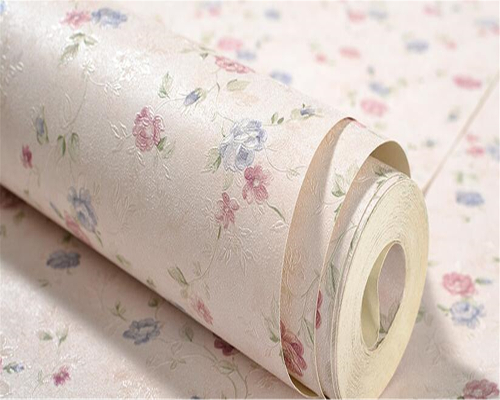 Beibehang Warm pastoral wind small floral clothing store hotel decoration wallpaper Korean style flowers background 3d wallpaper 2015 new brand 5m roll victorian country style for floral flowers background wallpaper