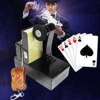 12V Magic Trick Card Fountain Spray Machine Remote Control Stage Magical Prop Board Games