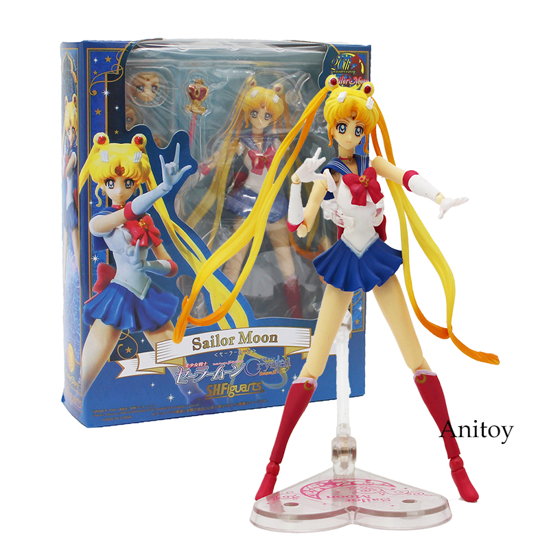 SHF Sailor Moon Crystal Season III Action Figure 1/8 Scale Painted Figure 20th Anniversary Variable PVC Figure Toy 15cm