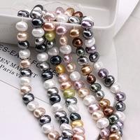 DIY Handmade Jewelry accessories shaped round baroque vintage elegant imitation shellfish pearl earrings material
