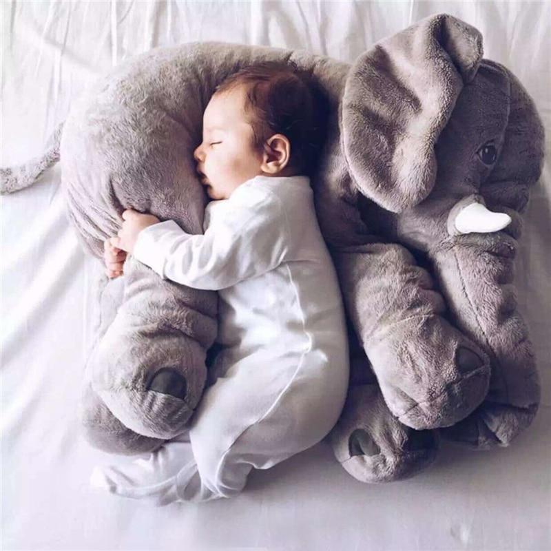 60cm Appease Elephant Soft Pillows Baby Sleeping Pillow Stuffed Elephant Plush Animal Cushion Kids Toy Room Bed Decoration Toys