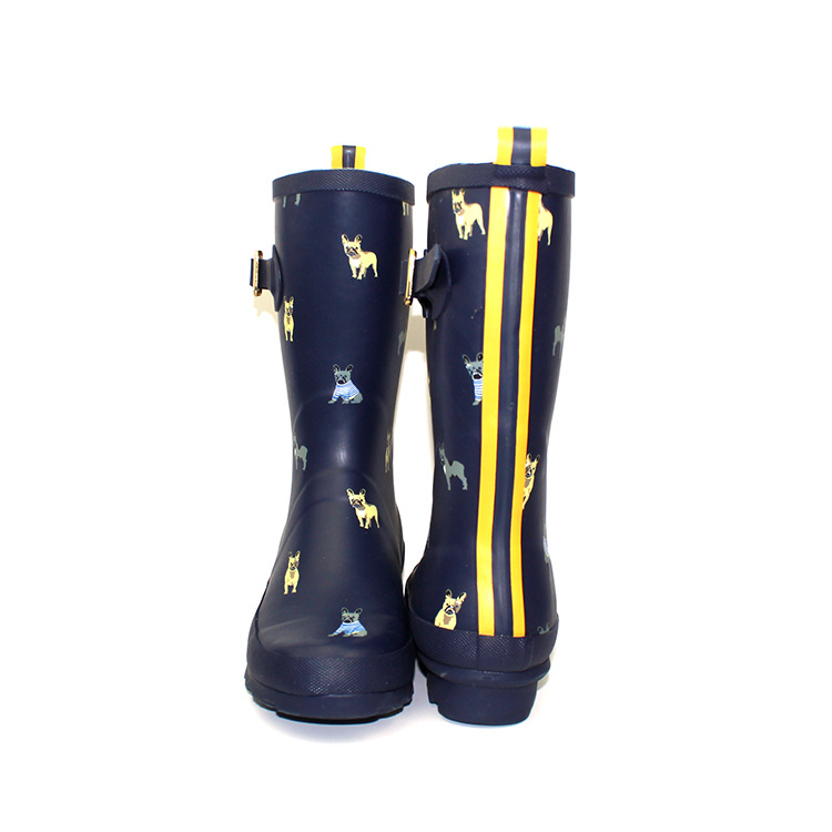 Imprimer Mignon Femme Bottes Pluie Automne Rainboots Bleu Caoutchouc Swyivy En mollet D'eau Dot Mi Femelle 2018 Nouvelle Chaussures Étanche Zdqadw