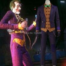 Batman Arkham Рыцарь Джокер Косплей Костюм Бэтмен Костюм Взрослого Косплей Бэтмен Джокер Костюм На Заказ