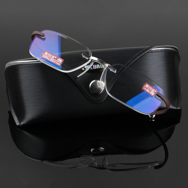 تشاشما العلامة التجارية عالية الجودة TR 90 المعابد مرنة نظارات القراءة فرملس للرجال والنساء